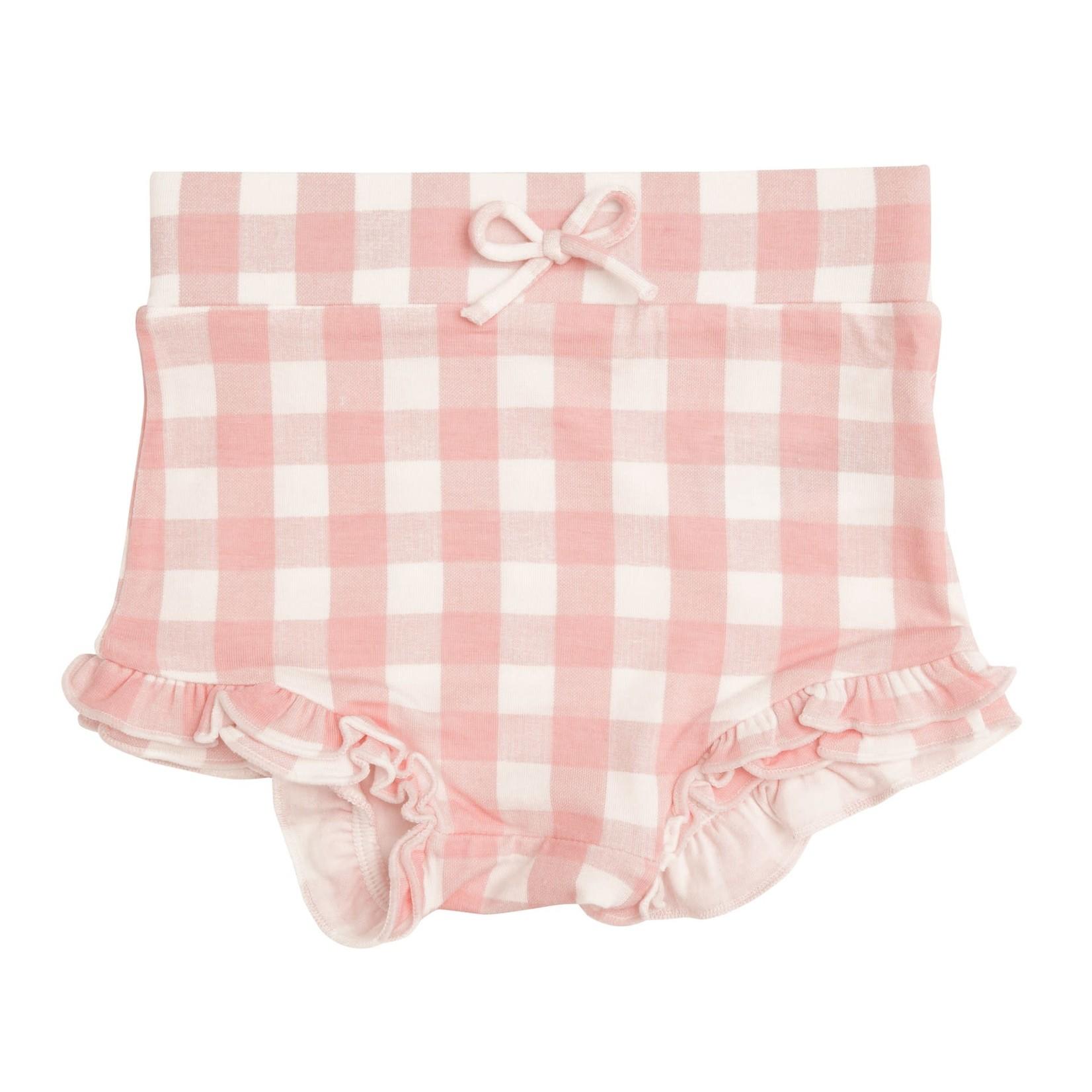 Angel Dear Gingham High Waist Shorts Pink