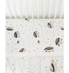 Little Unicorn Cotton Muslin Crib Sheet - Hedgehog