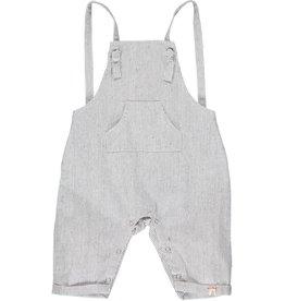 Me + Henry Ahoy shortie  grey stripe overalls