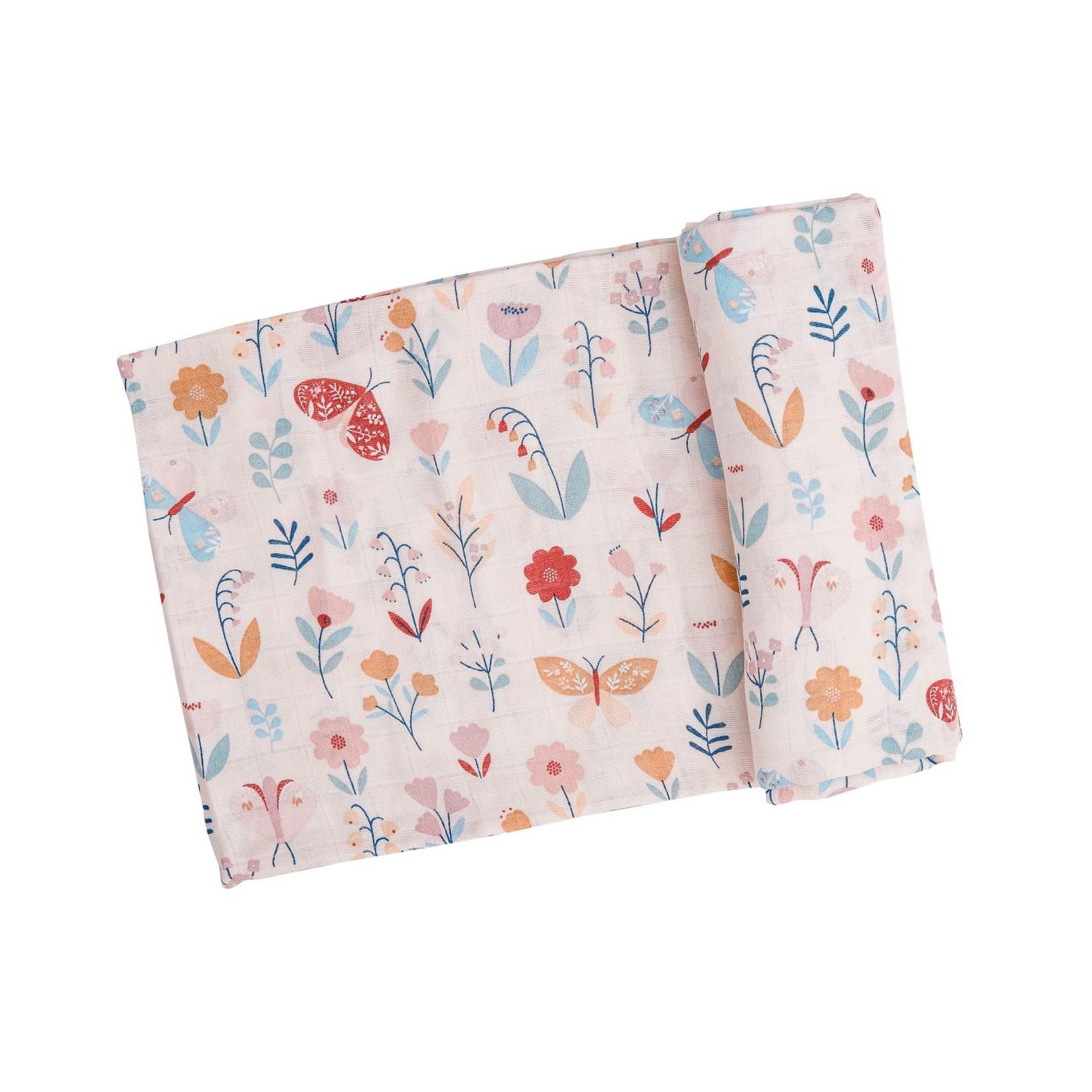 Angel Dear Butterfly Garden Swaddle Blanket 47x47