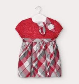 Mayoral Baby Girl Red Sweater with Plaid Dress 24M