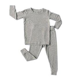 Little Sleepies Two Piece Pajama Set Heather Gray