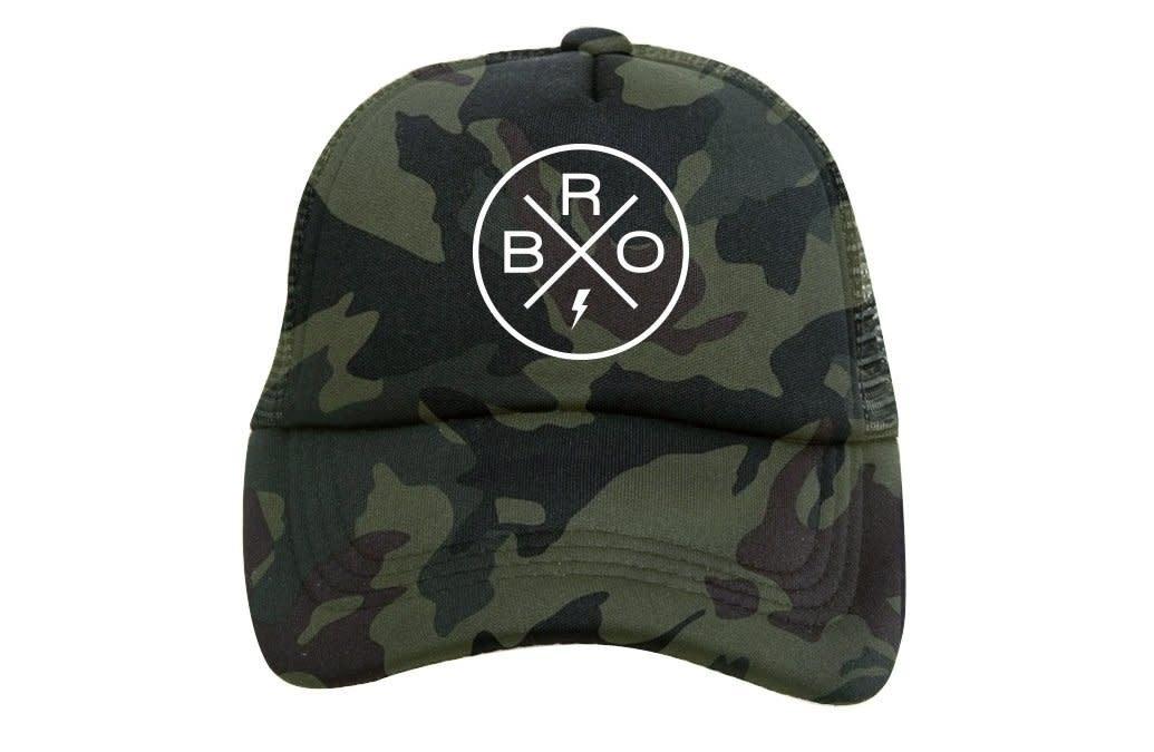 Tiny Trucker Co. Bro X Green Camo Trucker Hat - Baby