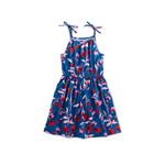 Tea Collection Tie Shoulder Dress - Floral Breeze