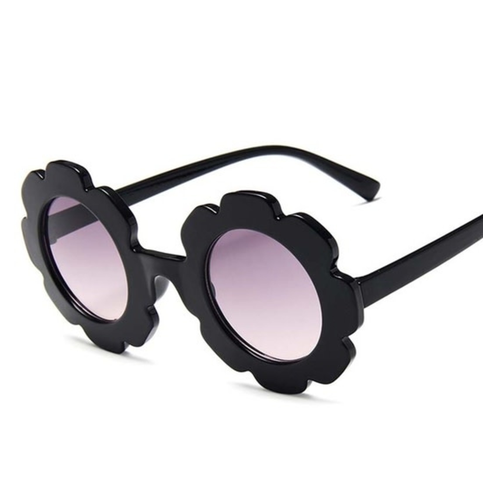 Miss Mimi Flower Power Sunglasses Black