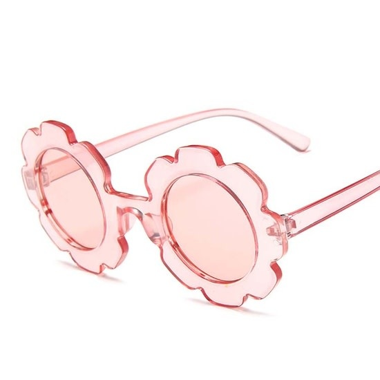 Miss Mimi Flower Power Sunglasses Clear Pink