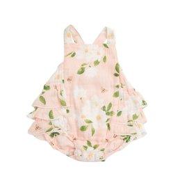 Angel Dear Magnolia Muslin Ruffle Sunsuit Pink 18-24M