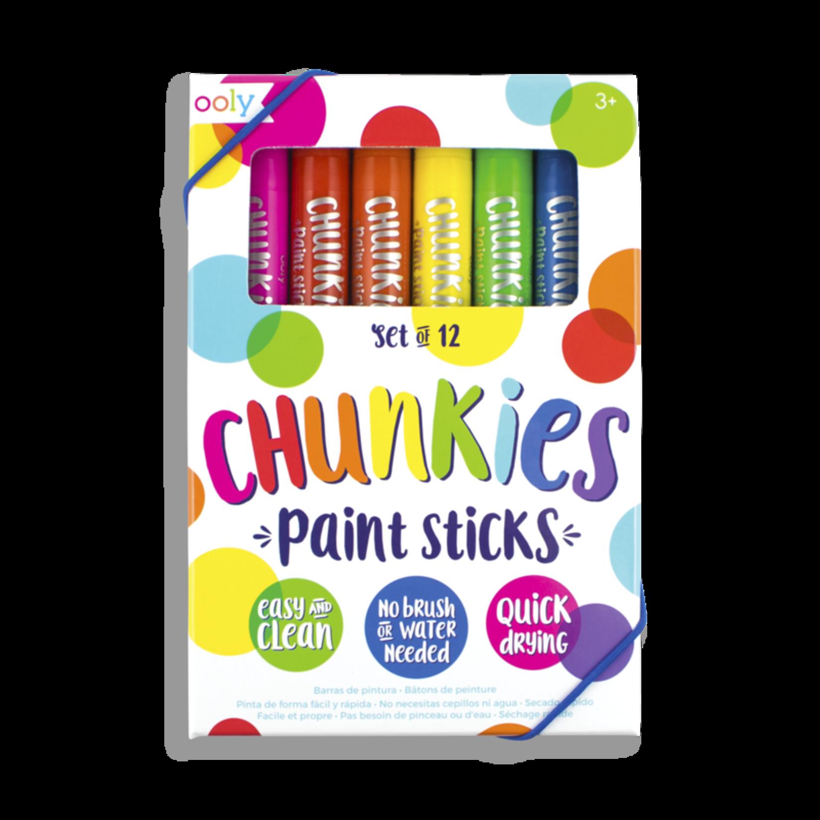 Ooly Chunkies Paint Sticks - Original Pack (Set of 12)