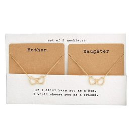 Mother + Daughter Necklace - Gold