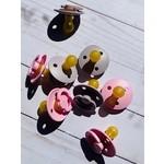 Bibs Pacifier Single Pink's & Purples Size 1