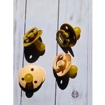 Bibs Pacifier Single Peach & Yellow's Size 1