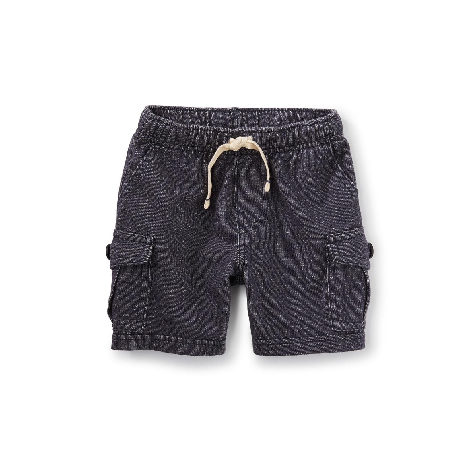 Tea Collection Cargo Baby Shorts - Indigo