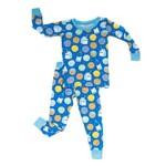 Little Sleepies Two Piece Pajama Set Cookies & Milk Blue