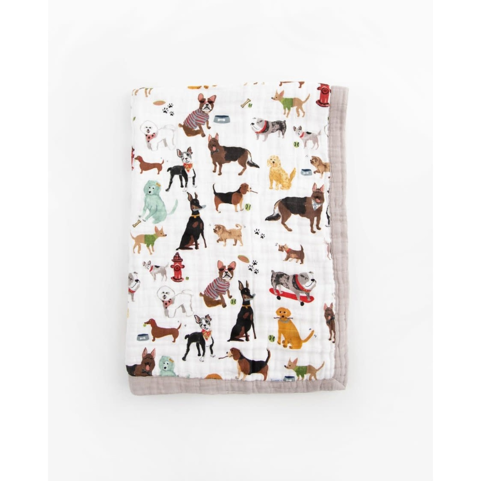 Little Unicorn Cotton Muslin Baby Blanket - Woof