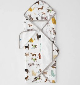 Little Unicorn Cotton Hooded Towel Set, Woof