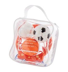 Mud Pie Sports Ball Bath Toy Set