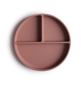 Mushie & Co Silicone Suction Plate, Cloudy Mauve