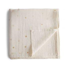 Mushie & Co Muslin Swaddle Blanket Organic Cotton (Sun)