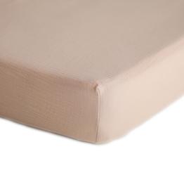 Mushie & Co Extra Soft Muslin Crib Sheet (Blush)