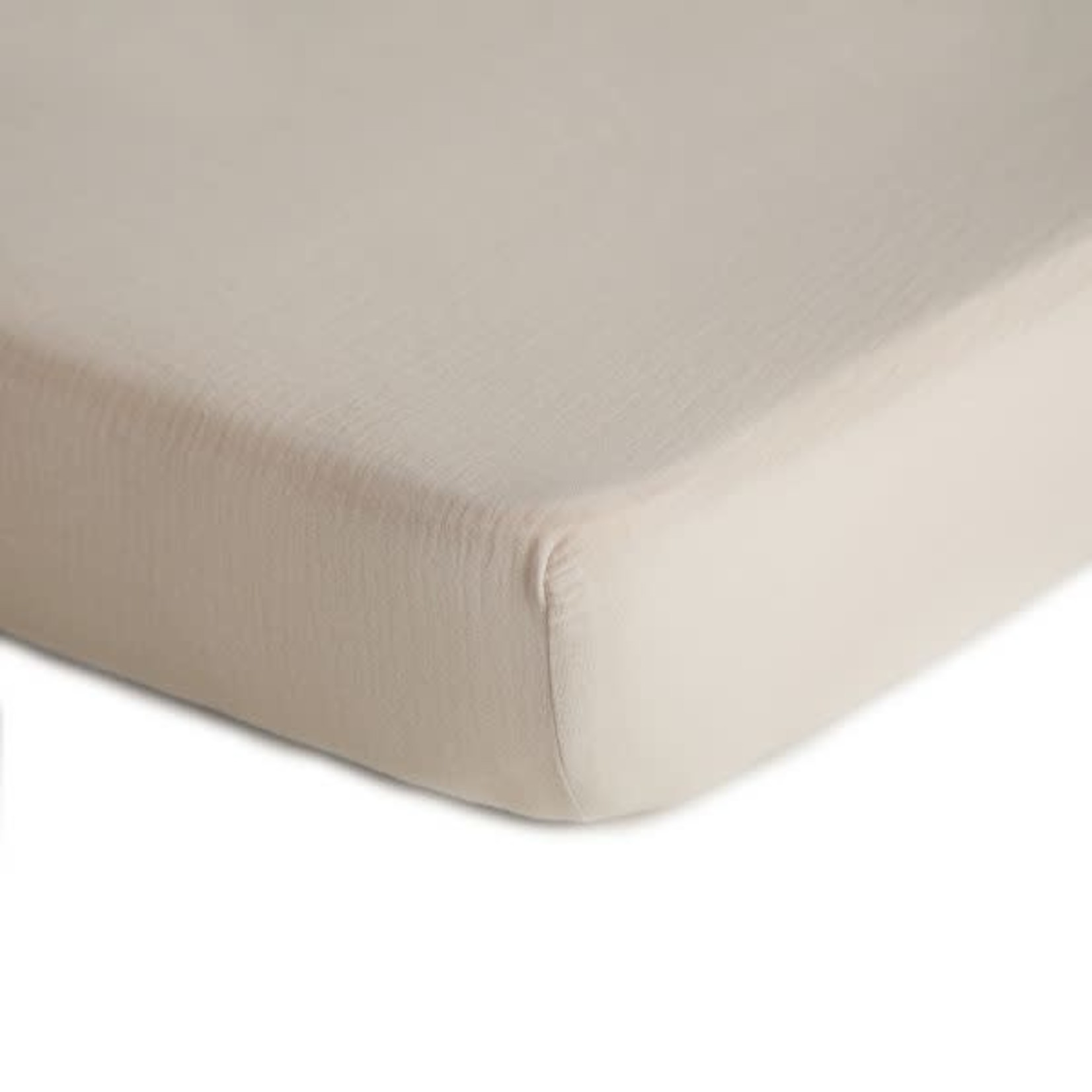 Mushie & Co Extra Soft Muslin Crib Sheet (Fog)