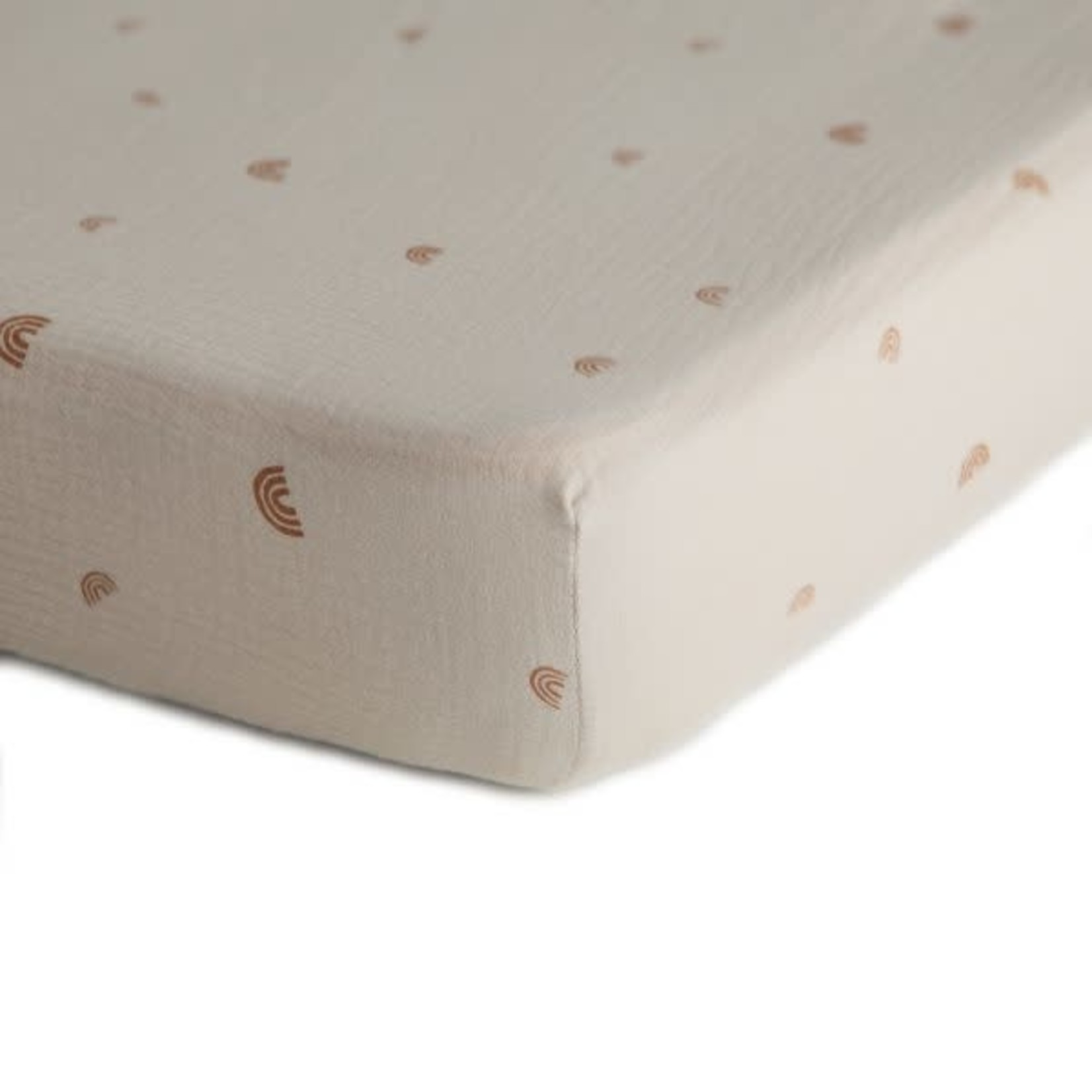 Mushie & Co Extra Soft Muslin Crib Sheet (Rainbow)