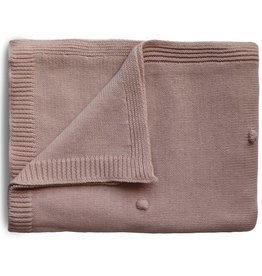 Mushie & Co Knitted Textured Dots Baby Blanket (Blush)