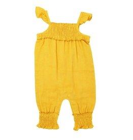 Loved Baby Organic Kids' Muslin Sleeveless Romper Saffron 3T