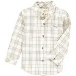 Me + Henry Woven Boys Shirt Beige White Plaid