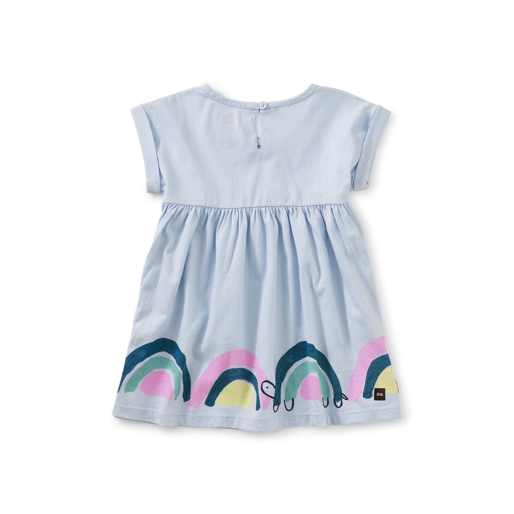 Tea Collection Empire Baby Dress - Vista Blue