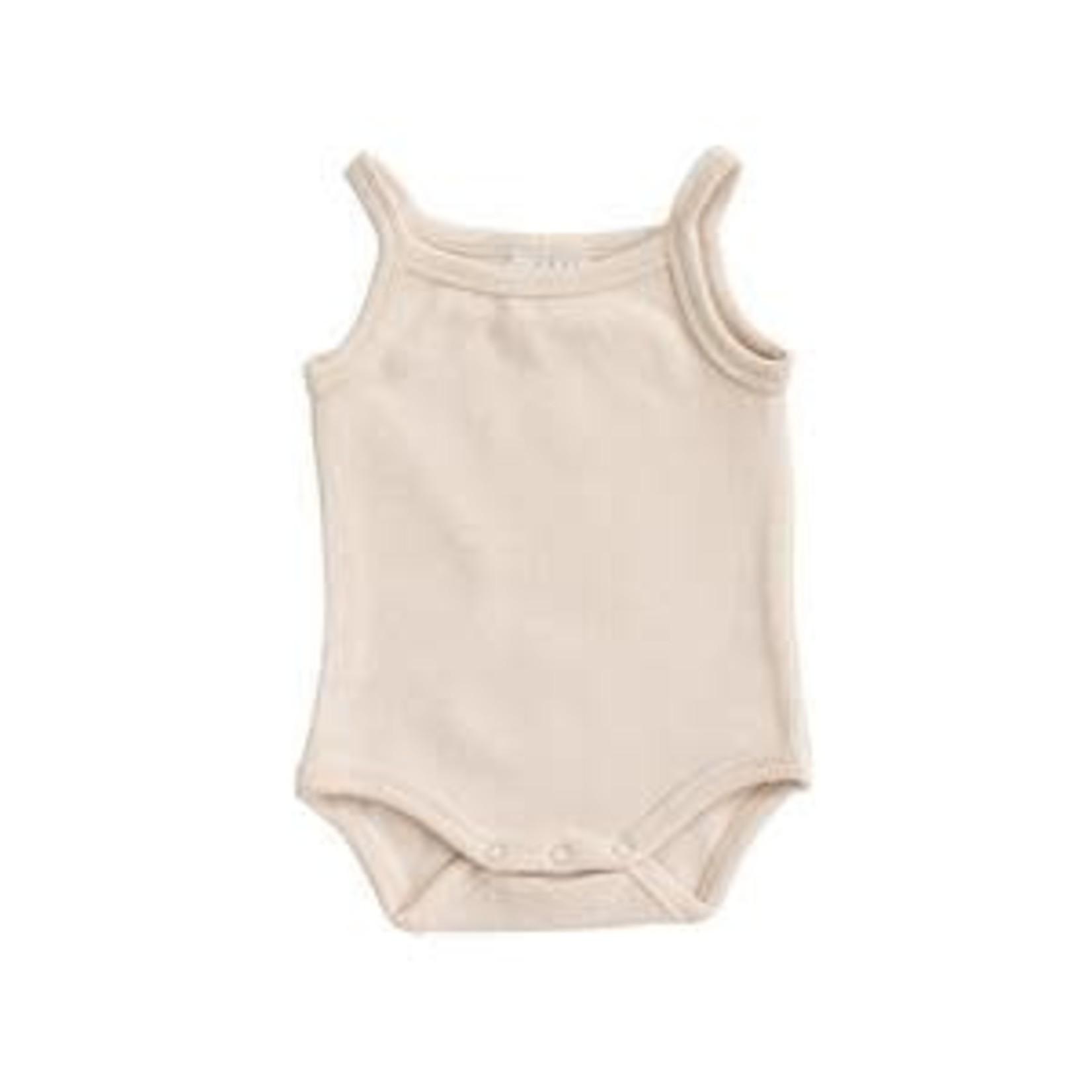 Mebie Baby Cream Tank Ribbed Bodysuit 0-3