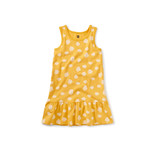 Tea Collection Tank Dress - Ink Polka Dots in Del Sol