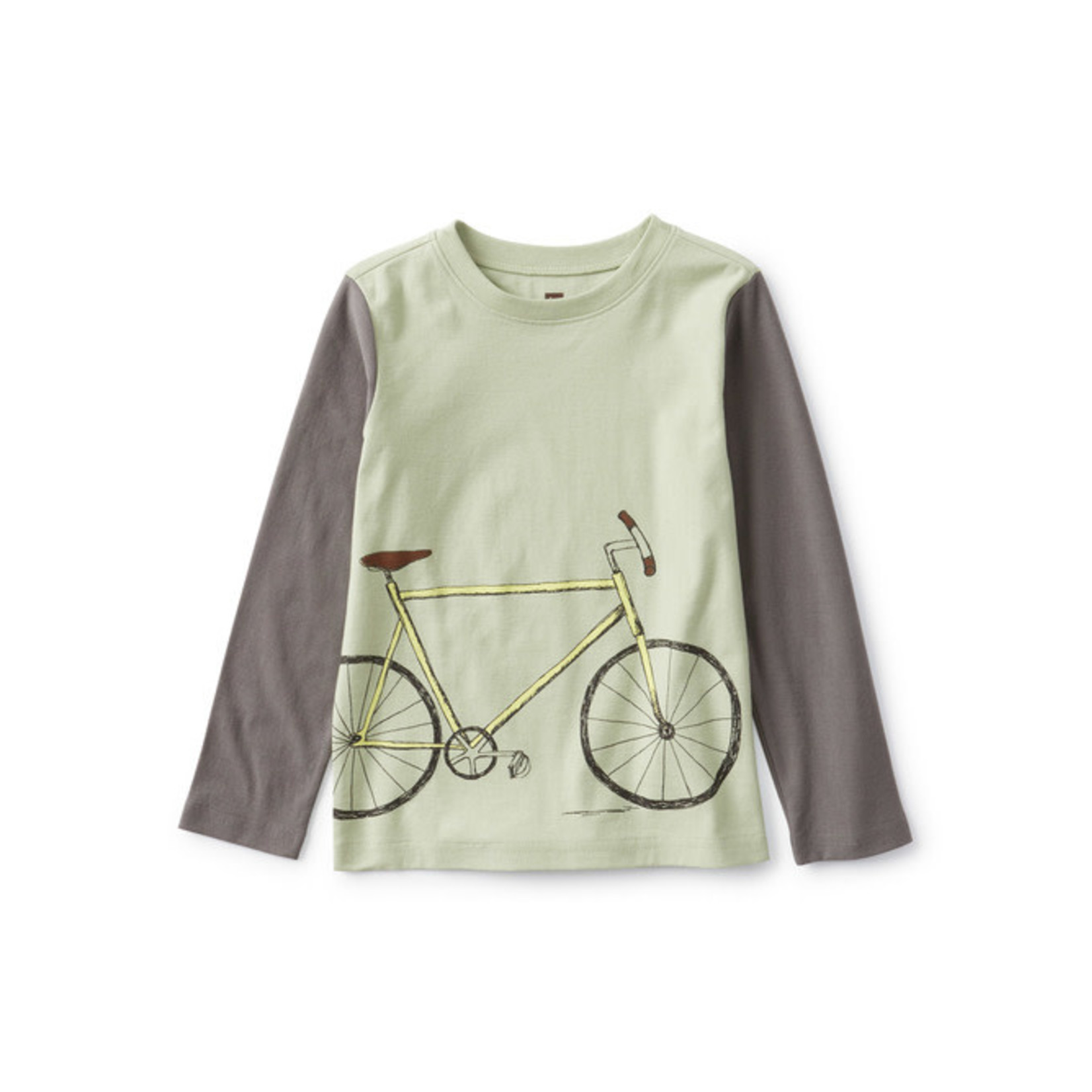 Tea Collection Bike Blocked Graphic Tee - Agave