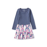 Tea Collection Tiered Skirted Dress - Over the Rainbow