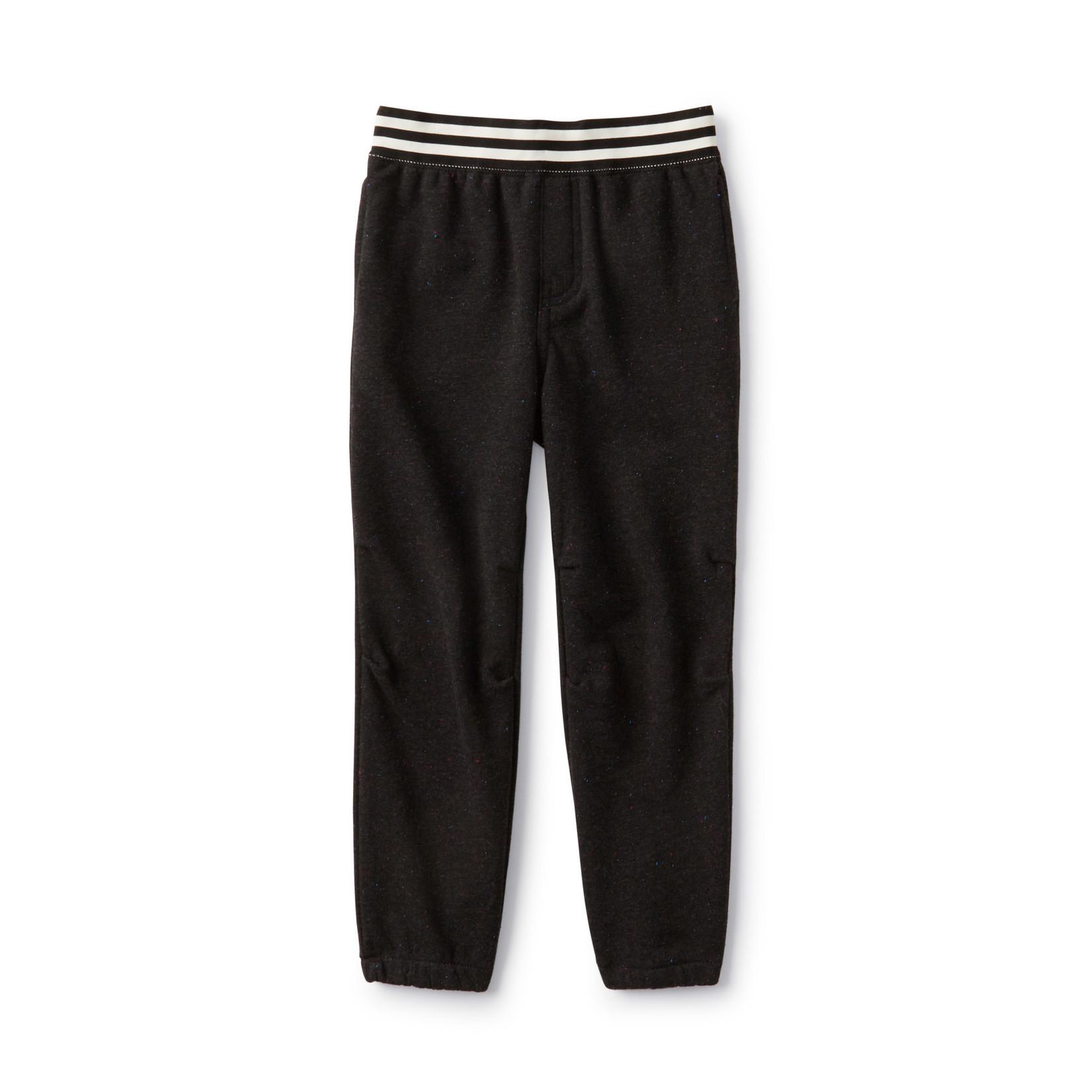 Tea Collection Dressed Up Stripe Sweatpants - Jet Black