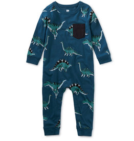 Tea Collection Printed Pocket Romper - Dynamic Dinos