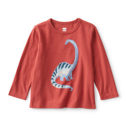 Tea Collection Baby Dino Graphic Tee - Earth Red