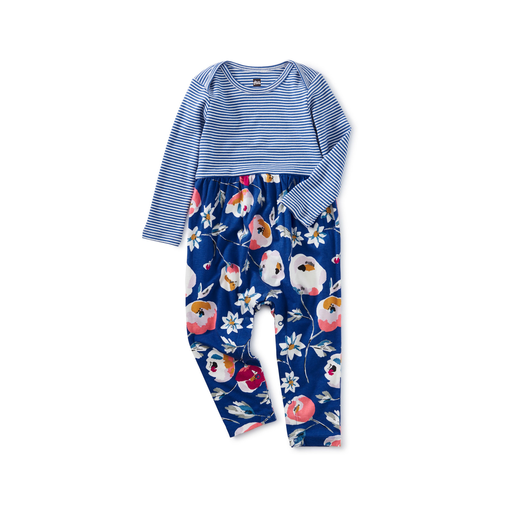 Tea Collection Mix It Up Baby Romper - Swedish Flowers in Imperial