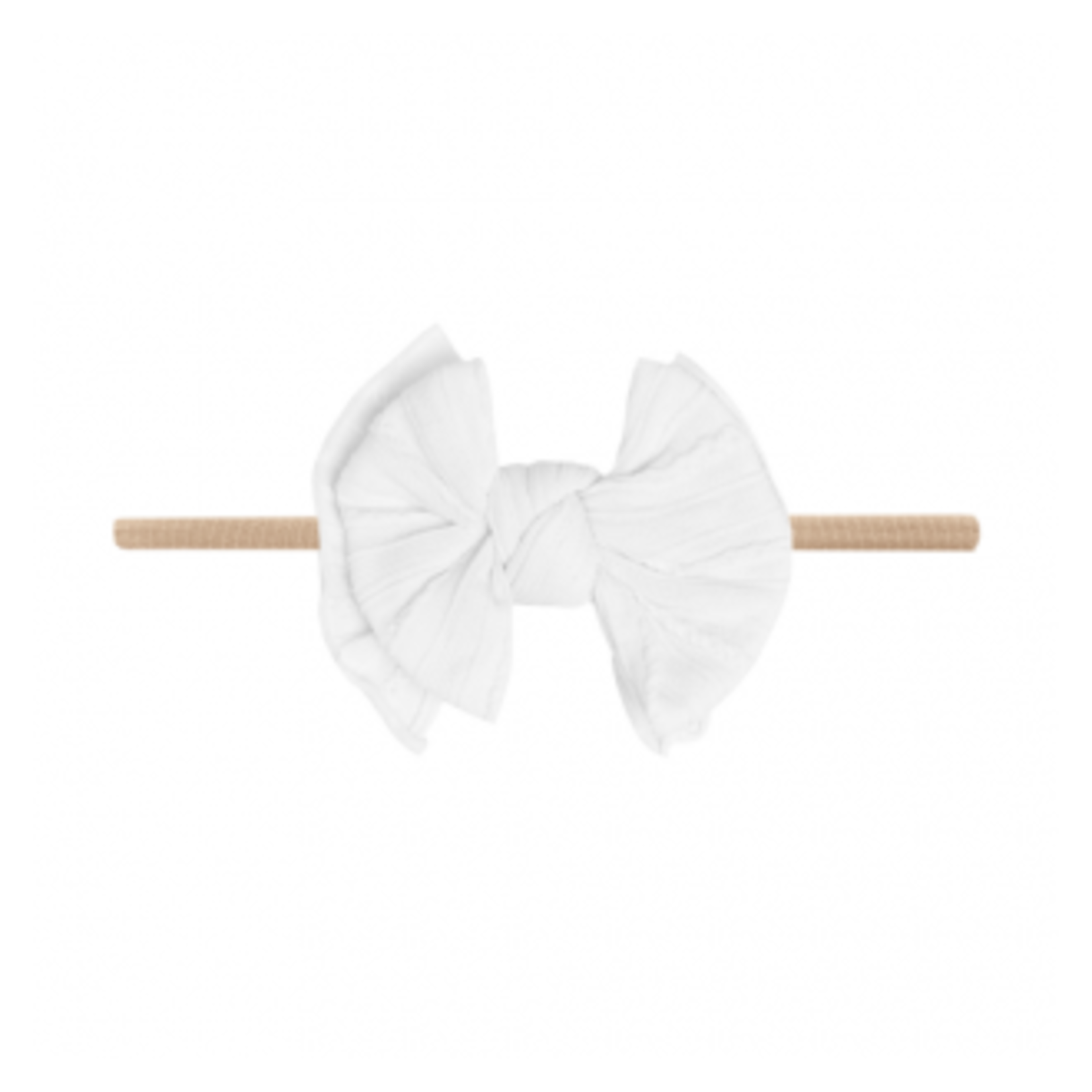 Baby Bling Bows Cable Knit Lil Fab Skinny - White
