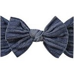 Baby Bling Bows Cable Knit Knot - Denim