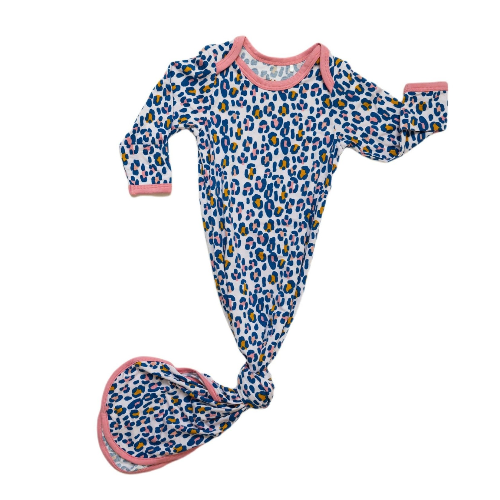 Little Sleepies Knotted Gown Wild Leopard