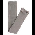 RuffleButts Footless Ruffle Tights, Gray 6-12M