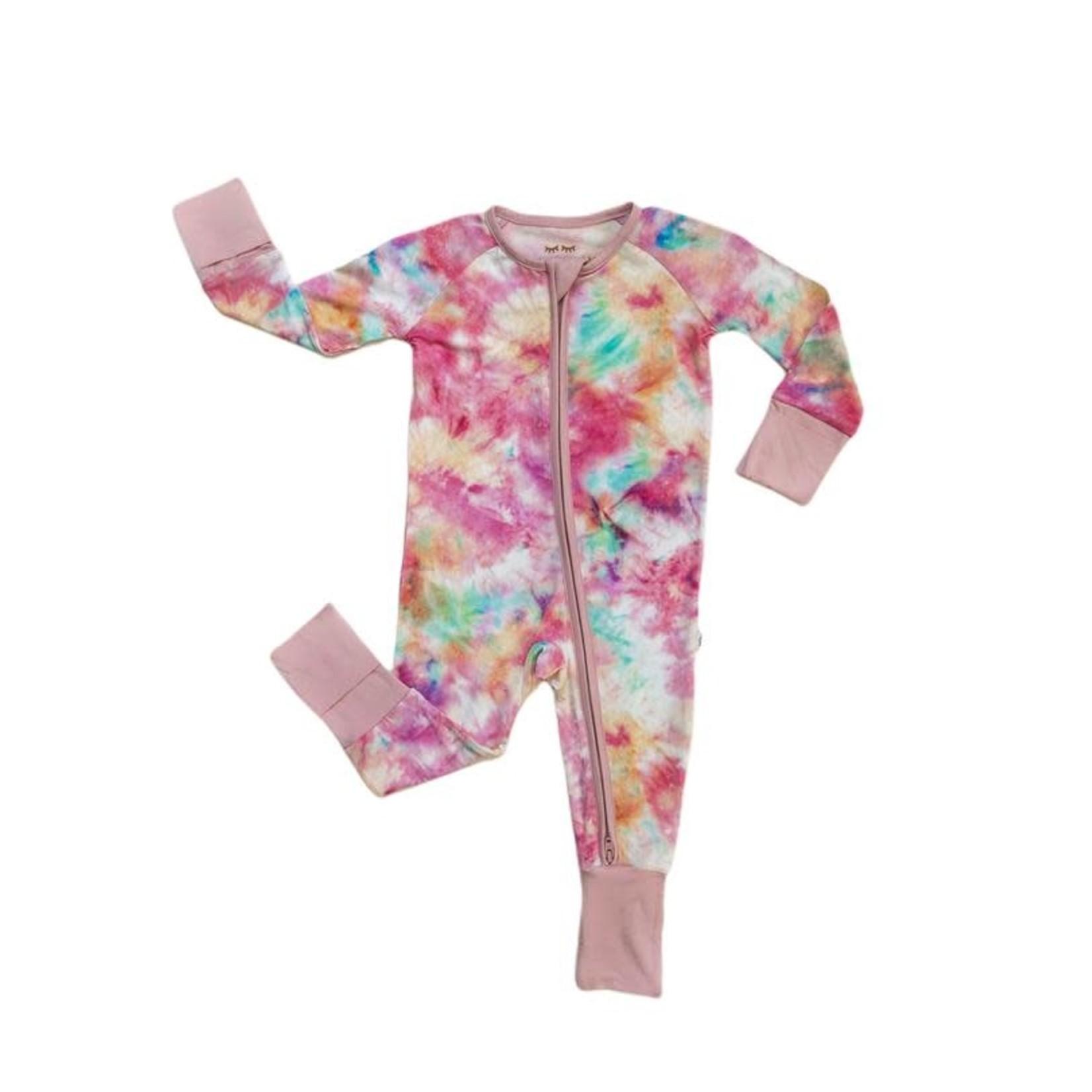Little Sleepies Convertible Romper/Sleeper Cotton Candy Tie-Dye