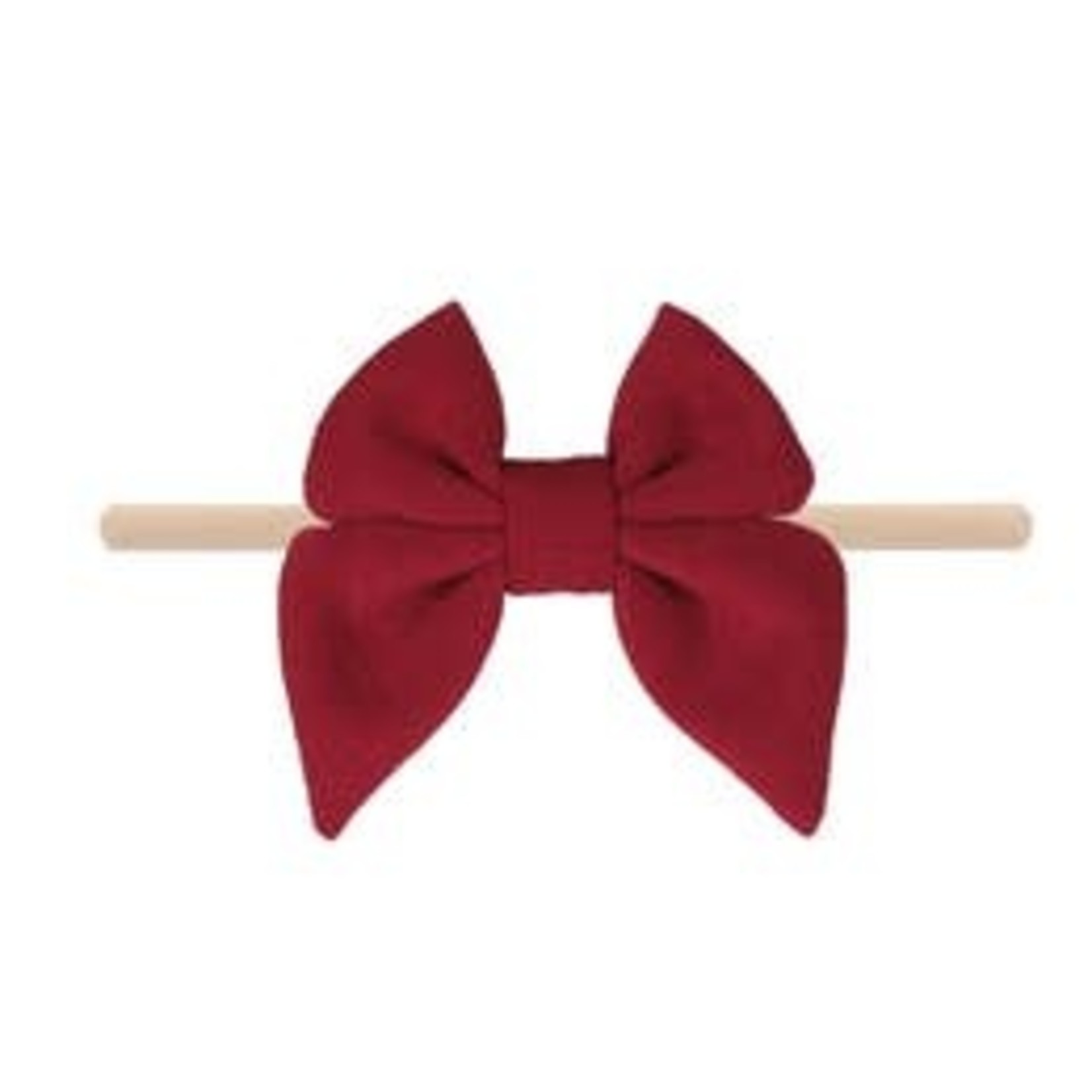 Emerson and Friends Merlot Cotton Bow Baby Headband
