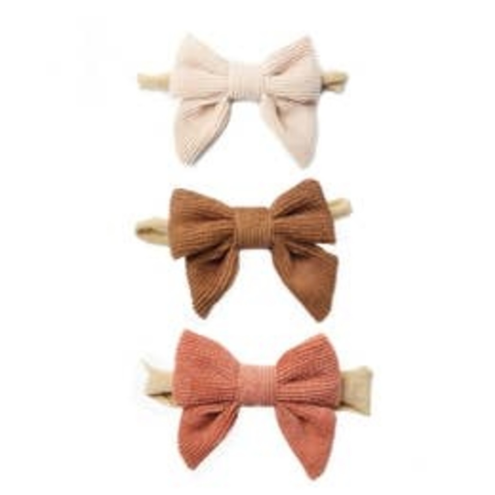 Emerson and Friends Sweet Sips Corduroy Bow Headband Set