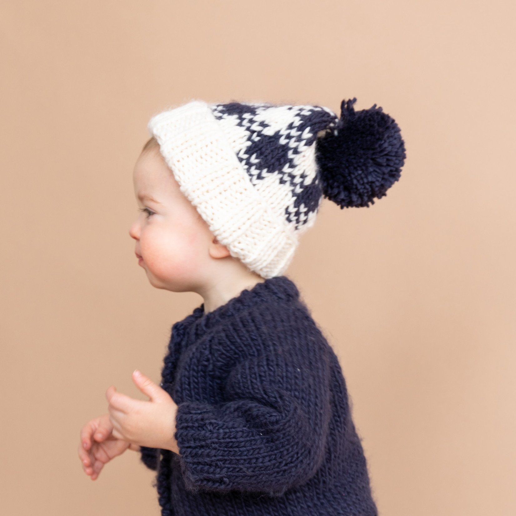 The Blueberry Hill Buffalo Check Hat - Cream/Navy