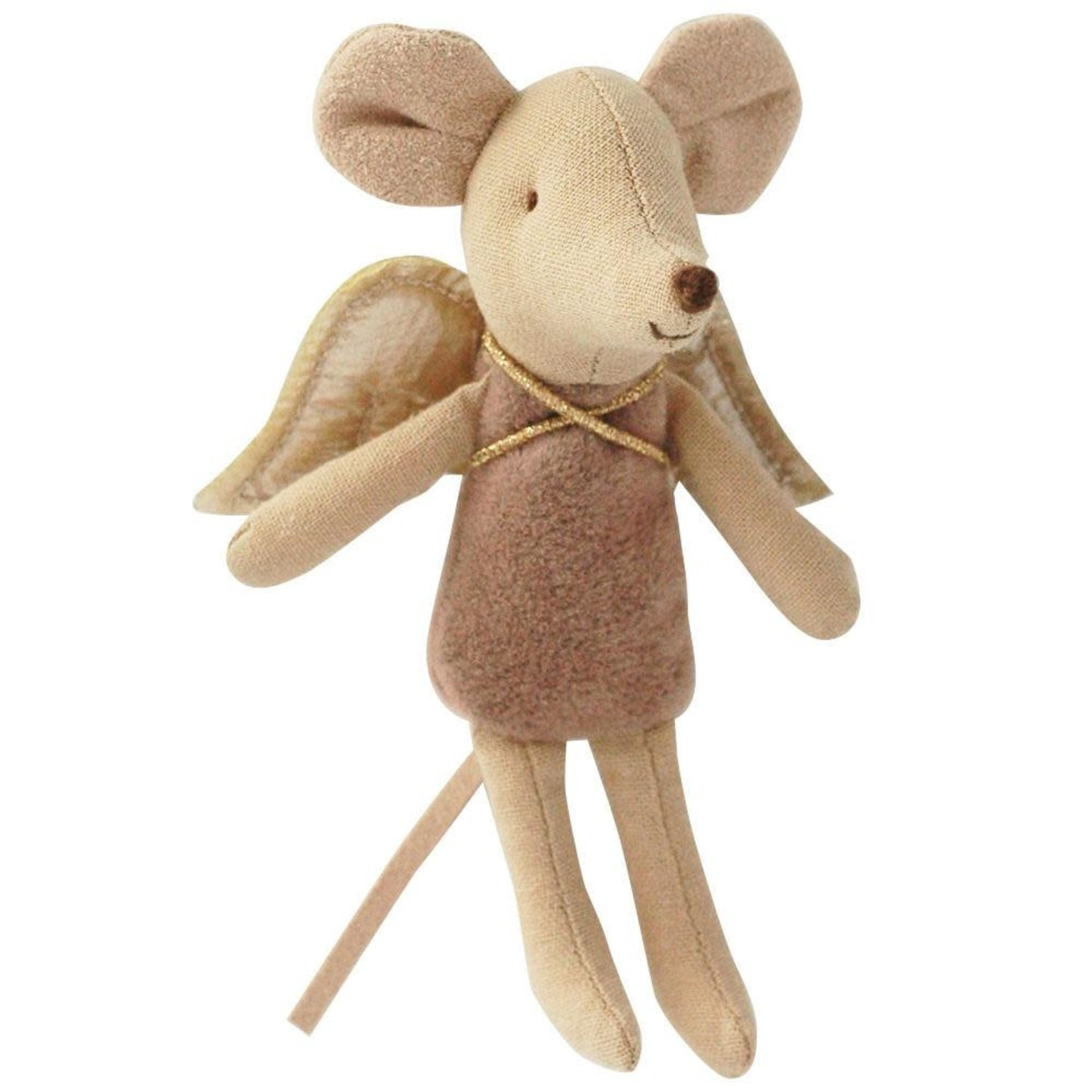 Maileg Fairy Little Sister Mouse - English Pink