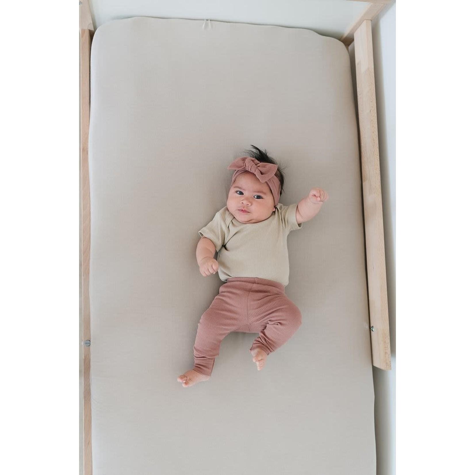 Mebie Baby Dusty Rose Organic Leggings