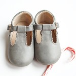 Little Love Bug Company Leather Gray Suede T Bar