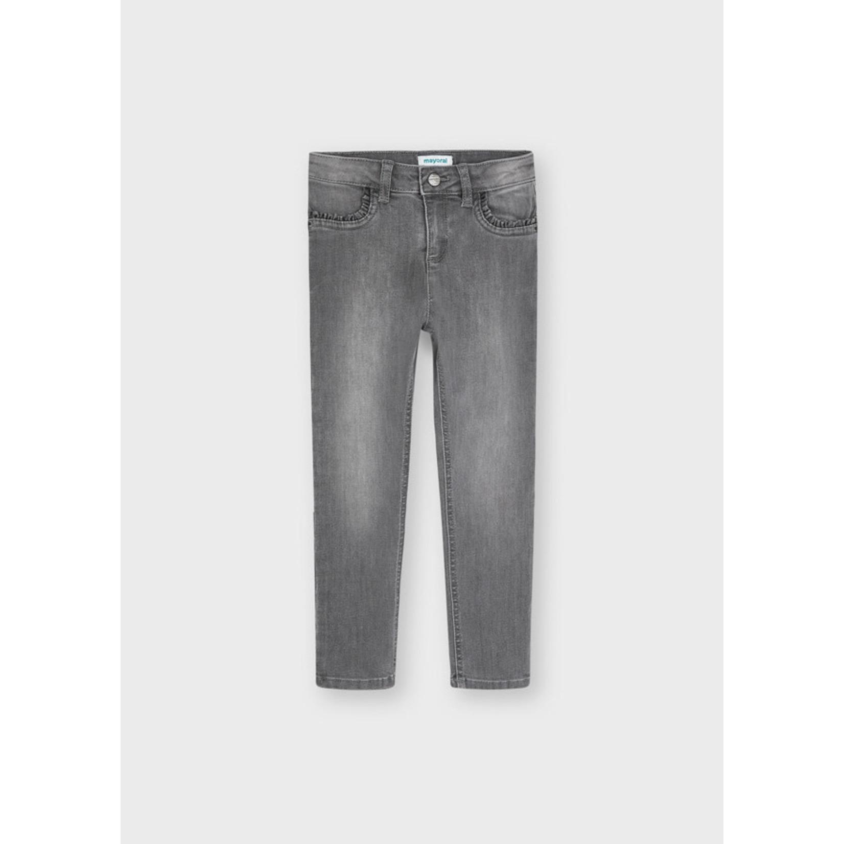 Mayoral Basic Skinny Pants, Light Gray