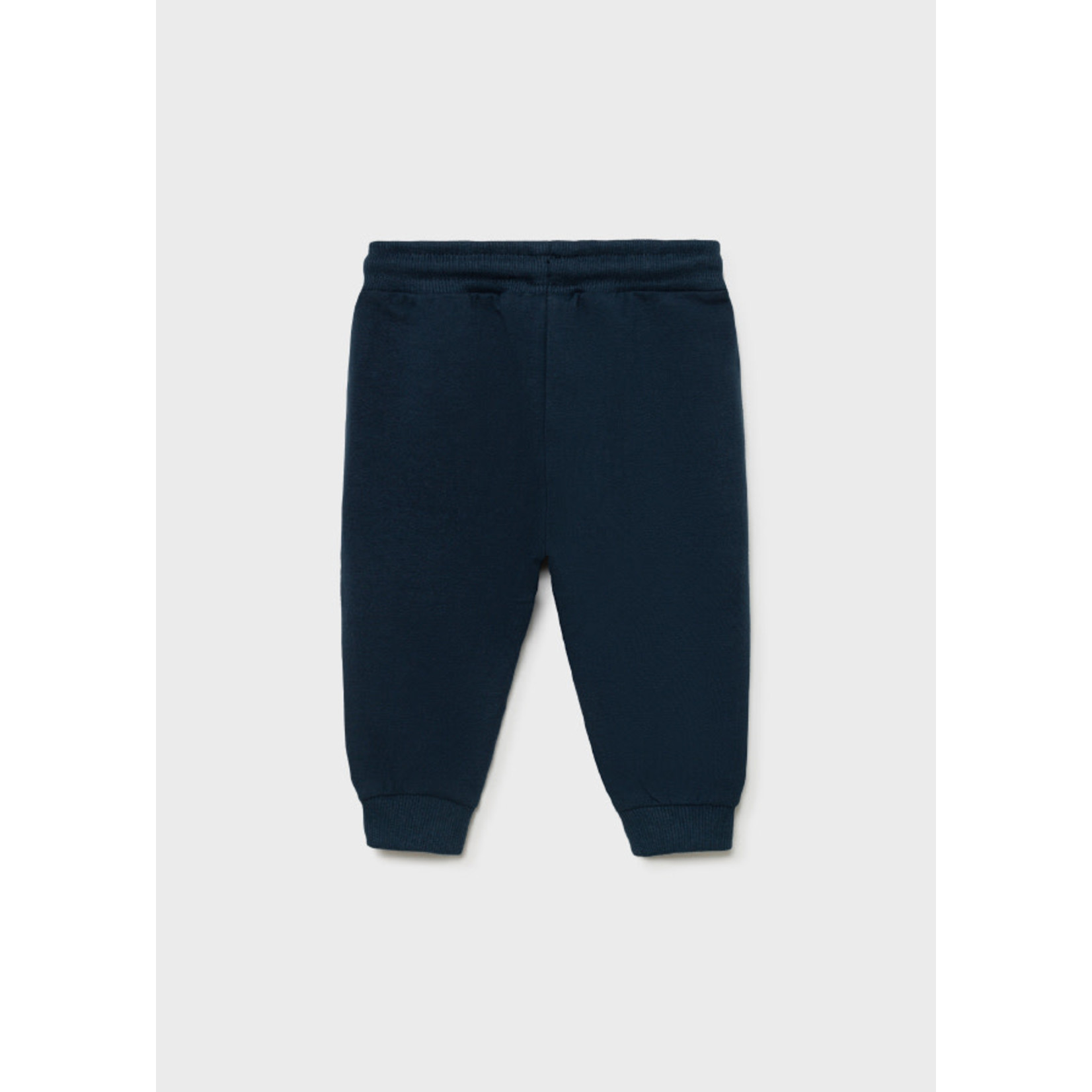 Mayoral Basic Cuffed Fleece Trousers, Blue